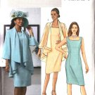 Butterick Sewing Pattern 4387 Misses Size 8-10-12-14 Easy Sleeveless Straight Dress Loose Jacket