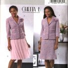 Butterick Sewing Pattern 4390 Misses Size 6-12 Lined Button Front Jacket Flared Full Skirt Suit