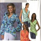 Butterick Sewing Pattern 4395 Misses Size 16-18-20-22 Easy Front Wrap Top Sleeve Variations