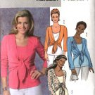 Butterick Sewing Pattern 4396 Misses Size 16-22 Easy Knit Tank Top Tie Front Shrug Jacket