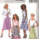 Butterick Sewing Pattern 4397 Misses Size 6-12 Easy Yoke Overskirt Layered Flared Skirts