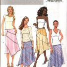 Butterick Sewing Pattern 4398 Misses Sizes 6-8-10-12 Easy Asymmetrical Seam Detail A-Line Skirt