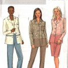 Butterick Sewing Pattern 4403 Misses Size 8-10-12-14 Easy Button Front Shirt Jacket Skirt Pants
