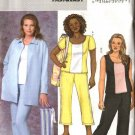 Butterick Sewing Pattern 4408 Womans Plus Size 26W-32W Easy Exercisewear Knit Jacket Top Pants