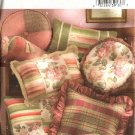 Butterick Sewing Pattern 4413 Decorator Pillows Cushions Round Square Rectangle Neck Bolster