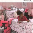 Butterick Sewing Pattern 4414 Girls' Bedroom Décor Duvet Cover Bedskirt Pillow Sham Footstool