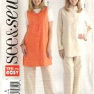 Butterick Sewing Pattern 4429 Misses Size 8-10-12 Easy Jacket Vest Pants
