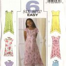 Butterick Sewing Pattern 4435 Girls Size 7-8-10 Easy Lined Spring Summer Dress Scarf