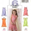 Butterick Sewing Pattern 4436 Girls Size 6-7-8 Easy Spring Summer Lined Dress Scarf