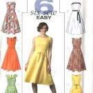 Butterick Sewing Pattern 4443 Misses Size 8-10-12-14 Easy Sleeveless Strapless Flared Skirt Dress