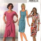 Butterick Sewing Pattern 4450 Misses Size 8-10-12-14 Easy Straight Ruched Dress Sleeve Variations