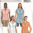 Butterick Sewing Pattern 4457 Misses Size 8-10-12-14 Easy Button Front Tucked Shirt Blouse