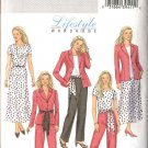 Butterick Sewing Pattern 4467 Misses Size 8-10-12-14 Easy Wardrobe Jacket Skirt Pants Top Sash