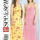 Butterick Sewing Pattern 4493 Misses Size 6-8-10 Easy Raised Waist Halter Long Dress