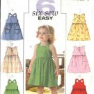 Butterick Sewing Pattern 4501 Girls Size 1-2-3 Easy Classic Summer Dresses Sundress