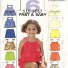 Butterick Sewing Pattern 4503 Girls Size 6-7-8 Easy Halter Summer Top Skort Shorts