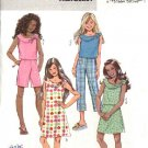 Butterick Sewing Pattern 4505 Girls Sizes 7-14 Easy Wardrobe Top Dress Skirt Pants Shorts