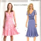 Butterick Sewing Pattern 4510 Misses Size 6-8-10-12  Easy Raised Waist Midriff Fitted Flared Dress