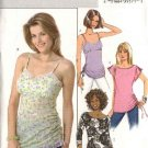 Butterick Sewing Pattern 4517 Misses Size 8-10-12-14 Easy Pullover Empire Waist Ruched Tops