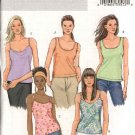 Butterick Sewing Pattern 4518 Misses Size 6-8-10-12 Easy Pullover Tank Top Camisole Shell