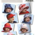 Butterick Sewing Pattern 4531 Infants Baby Sun Hats Visors