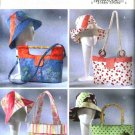 Butterick Sewing Pattern 4532 Handbags Totes Purses Matching Sun Hats