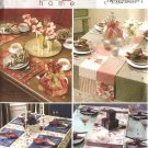 Butterick Sewing Pattern 4535 Table Top Runner Napkin Ring Placemat Tea Cozy Tablecloth