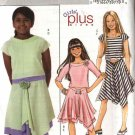 Butterick Sewing Pattern 4546 Girls Size 7-8-10-12-14 Easy Knit Pullover Top Flared Skirt