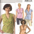 Butterick Sewing Pattern 4549 Misses Size 8-10-12-14 Easy Pullover Raised Waist Tops