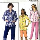 Butterick Sewing Pattern 4555 Misses Size 8-10-12-14 Easy Button Front Top Shorts Cropped Pants
