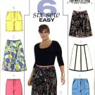 Butterick Sewing Pattern 4557 Womans Plus Size 18W-24W Easy A-Line Skirt Shorts Capri Cropped Pants