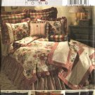 Butterick Sewing Pattern 4564 Bedroom Décor Comforter Throw Sham Neckroll Pillows Bedskirt
