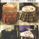 Butterick Sewing Pattern 4566 Footstool Ottoman Tuffet Slipcovers