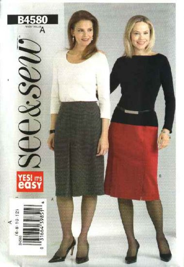 Butterick Sewing Pattern 4580 B4580 Misses Size 14-16-18-20 Easy Classic Straight Skirts