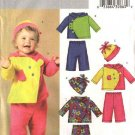 Butterick Sewing Pattern 4587 Baby Toddler Size NB-L. Easy Fleece Knit Hooded Jacket Pants Hat