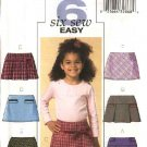 Butterick Sewing Pattern 4590 Girls Size 2-3-4-5 Easy Pleated Yoke A-Line Skirts