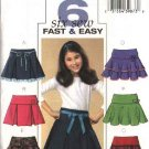Butterick Sewing Pattern 4593 Girls Size 7-8-10 Easy Pleated Layered Tiered Yoke Skirt