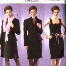 Butterick Sewing Pattern 4602 Misses Size 6-12 Lined Jacket Sleeveless Top Straight Skirt Collar