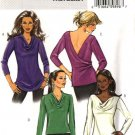 Butterick Sewing Pattern 4606 Misses Size 6-8-10-12 Easy Knit Pullover Cowl Neckline Top