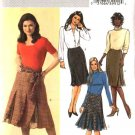 Butterick Sewing Pattern 4614 Misses Size 8-10-12-14 Easy Straight Flared Godet Skirts Sash