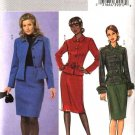 Butterick Sewing Pattern 4617 Misses Size 6-12 Easy Peplum Button Front Jacket Straight Skirt