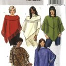 Butterick Sewing Pattern 4622 Womans Plus Size 18W-24W  Easy Fleece Knit Wool Ponchos