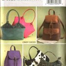 Butterick Sewing Pattern 4625 B4625 Lined Handbags Totebags Purses Pocketbooks Bag Backpacks