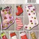 Butterick Sewing Pattern 4628 Eight Easy Decorated Embellished Christmas Stockings