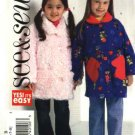 Butterick Sewing Pattern 4636 Girls Size 2-3-4-5 Easy Button Front Fleece Long Sleeve Jacket