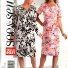 Butterick Sewing Pattern 4638 Misses Size 6-8-10-12 Easy Mock  Wrap Straight Dress