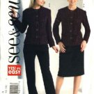Butterick Sewing Pattern 4639 Misses Size 8-14 Lined Button Front Jacket Straight Skirt Pants Suit