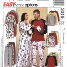 McCall's Sewing Pattern 3019 Misses Mens Unisex Size S-L Wrap Front Robe Pajamas Top Pants Shorts