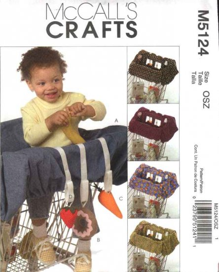 McCall�s Sewing Pattern 5124 Baby's Infants Grocery Cart Liner Toys