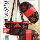 Butterick Sewing Pattern 4644 Misses Easy Three Cosmetic Fashion Accessory Bags Handbag Purse